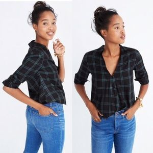 ✨MADEWELL✨Wrap Front Shirt in Palma Plaid